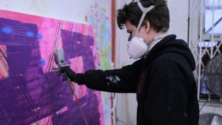 Keltie Ferris Spray Paints in Solitude