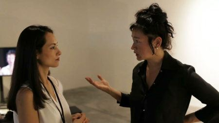 Hito Steyerl and Shahzia Sikander at the 13th Istanbul Biennial